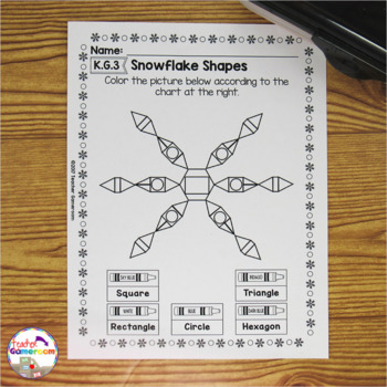 Freebie - Snow Shapes - Identifying Shapes K.G.3