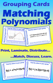 Grouping Cards - Matching Polynomials