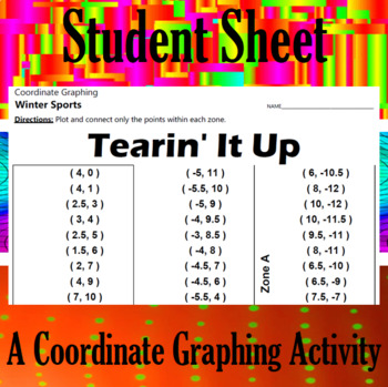 Tearin' It Up - A Coordinate Graphing Activity