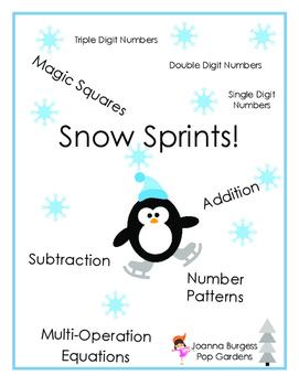 Snow Sprints Math Pack