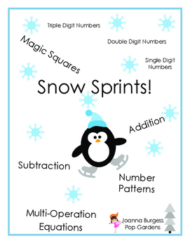 Snow Sprints Math Pack