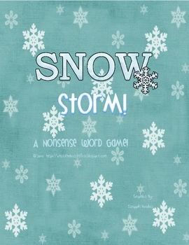 Snow Storm! {A nonsense word game}