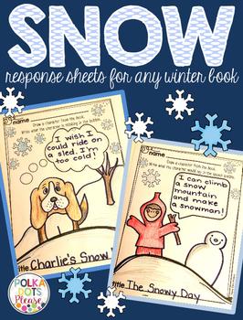 Snow Story Response Printables