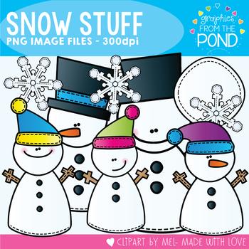 Snow Stuff - Winter Snowmen Clipart Set for Teachers