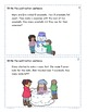 Snow Subtraction Word Problems Task Cards (from up to 10)