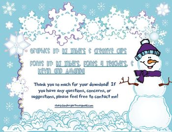Snow Sums - Roll a Snowflake (FREEBIE)