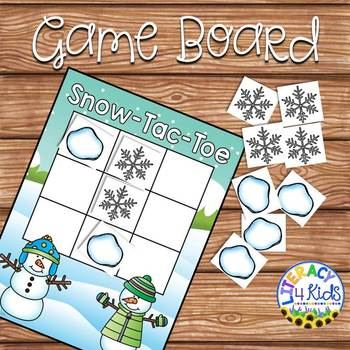 Snow-Tac-Toe Game Board and Instructions for Grades K-5
