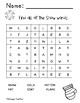 Snow Theme literacy and math packet activity bundle