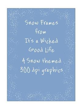 Snow Themed Frames