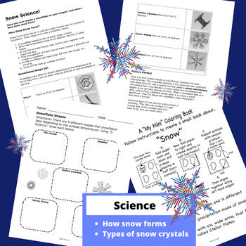 Snow Themed / Winter Unit for Firsties! (NO PREP)