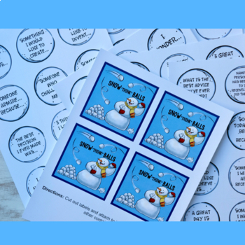 "Snow ""Think"" Ball Conversation Starters and Writing Prompts"