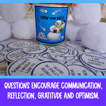 """Snow """"Think"""" Balls Conversation and Writing Prompts"""