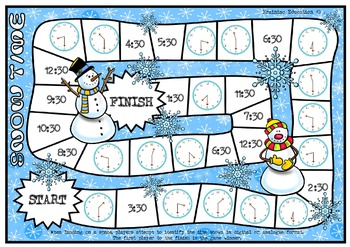 Snow Time Half Past Times Board Game