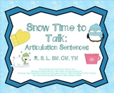Snow Time to Talk: Articulation Sentences Pack (R,S,L,SH,CH,TH)