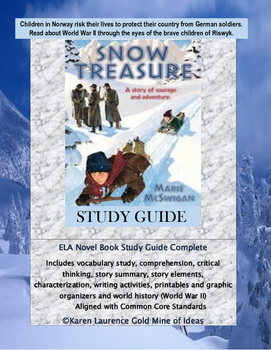 Snow Treasure by Marie McSwigan Novel Reading Study Guide Complete!