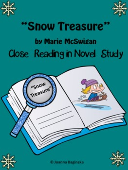 Snow Treasure: reading comprehension journal