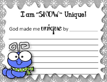 Snow Unique. Bulletin Board Set. Snow. Caterpillars. Winter. Designed by God