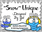 Snow Unique. Bulletin Board Set. Snow. Caterpillars. Winte