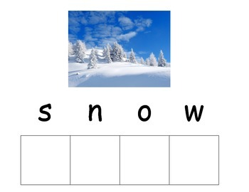 Snow Unit Word Wall and Spelling words