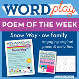Snow Way - ow Word Family Poem of the Week - Long Vowel O Fluency Poem