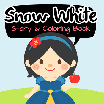 NO PREP! Snow White Fairy Tales Story and Coloring Book