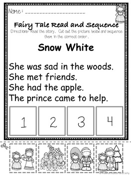 Snow White - A Fairy Tale Comprehension Unit - Jabber the Reteller