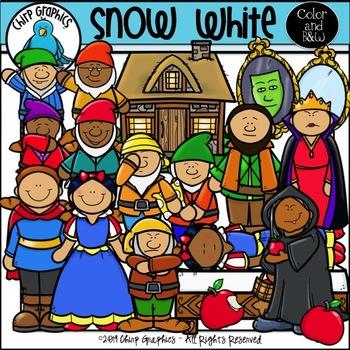 Snow White Clip Art Set - Chirp Graphics