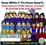 Snow White Clip Art for Personal and Commercial Use