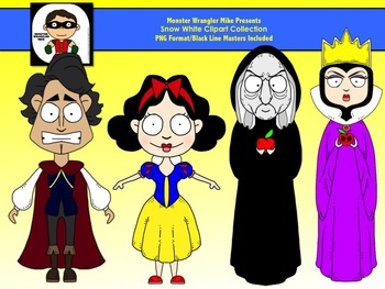 Snow White Clipart Collection
