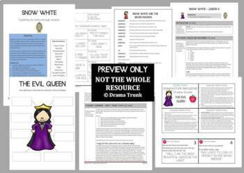 Snow White DRAMA UNIT + Performance Script (4 x 60 min lessons) NO PREP!