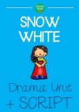 Snow White DRAMA UNIT + Performance Script (4 x 60 min lessons) NO PREP!