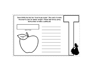 Disney Inspired Snow White Expository Writing Layered Book
