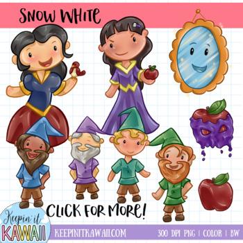 Snow White Fairy Tale Clip Art Set