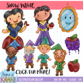 Snow White Fairy Tale Clip Art Set