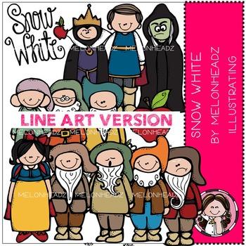 Snow White by Melonheadz LINE ART