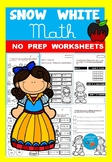 Snow White MATH - NO PREP worksheets