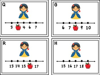 Snow White Missing Numbers 1-20