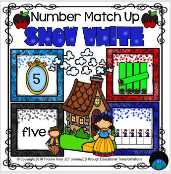 Snow White Number Match Up