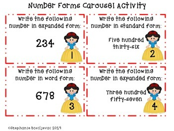 Snow White Place Value to 1000 (comparing numbers, even and odd, number forms)