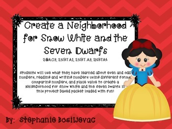 Snow White Place Value to 1000 (comparing numbers, even an