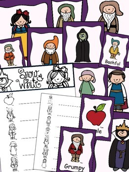 Snow White Posters (12 Total) & Writing Activity {Fairy Tales}