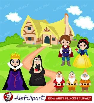 Snow White Princess Digital Clipart Set