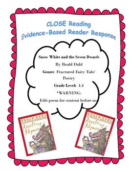 Snow White (Roald Dahl) Poem CLOSE Reading Questions