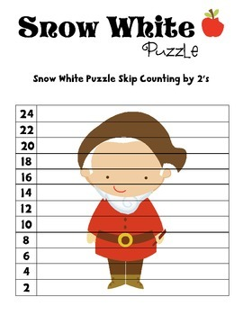 Disney Inspired Snow White Skip Counting Puzzles 2-12