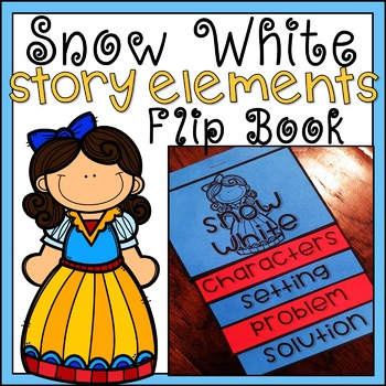 Story Elements Flip Book Snow White Fairy Tale Activity