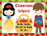 Snow White & The Seven Dwarfs Classroom Job Chart