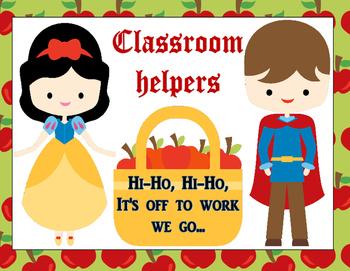 Snow White & The Seven Dwarfs Classroom Job Chart
