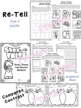 Snow White Worksheets (for ELA)