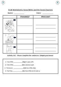Snow White and The Seven Dwarves worksheet