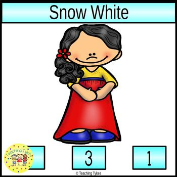 Snow White and the Seven Dwarfs Clip Task Cards